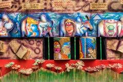 Décorations avec la canne et le bambou Images libres de droits