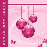 Décorations de boules de Noël Photo libre de droits