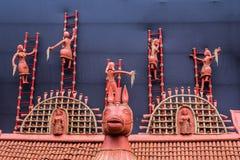 Décorations indiennes rurales d'argile Photographie stock