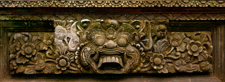 Découpage en pierre asiatique antique Image stock