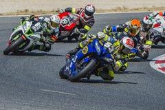 DCR che corre il gruppo di servizio 24 ore di motociclismo di Catalunya Immagine Stock