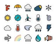 Décrivez la conception plate d'icônes légèrement, ligne moderne course Image libre de droits