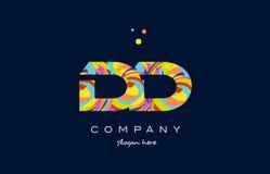 dd d d colorful alphabet letter logo icon template vector stock illustration