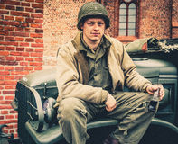 DDay - American Soldier Stock Image