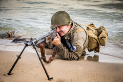 DDay - American Soldier Royalty Free Stock Photo