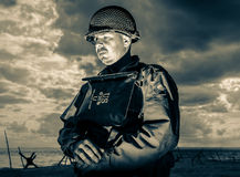 DDay - American Soldier Royalty Free Stock Images