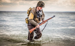 DDay - American Soldier Royalty Free Stock Image