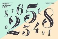 DDBBLL. Numbers font vector illustration