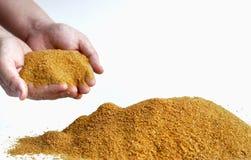Ddgs мозоли, дистиллируя высушенное зерно с soluble для произведения био дизеля и алкоголя/этанола стоковые фотографии rf