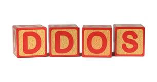DDOS - Χρωματισμένοι φραγμοί αλφάβητου των παιδιών. Στοκ Εικόνες