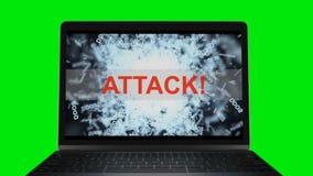 DDOS atak na serwerze Komputerowy poddatnościa obraz cyfrowy zielony ekran hroma klucz 57 ilustracji