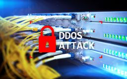 DDOS attack, cyber protection. virus detect. Internet and technology concept.  stock photos