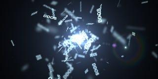DDOS Attack, Infection trojan, virus attacks Royalty Free Stock Photos