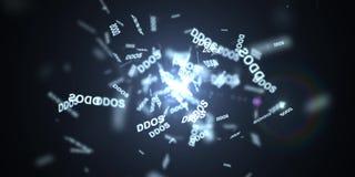 DDOS-attack, infektiontrojanen, virus anfaller royaltyfri fotografi