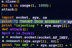 DDOS cyber attack concept. Royalty Free Stock Photo
