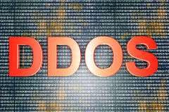 DDOS. The DDOS - Distributed Denial Of Service - hackers attack. 3D rendered Illustration Royalty Free Stock Photos
