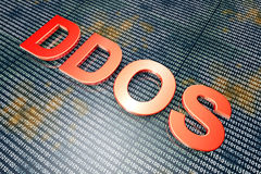 DDOS. The DDOS - Distributed Denial Of Service - hackers attack. 3D rendered Illustration Stock Photo