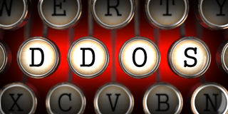 DDOS on Old Typewriter's Keys. Royalty Free Stock Image