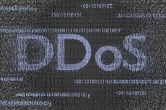 Ddos in progress attack infected code background 3d render royalty free stock photo