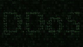 DDoS caption on the computer screen made of text and numeric symbols. 3D rendering Royalty Free Stock Photos