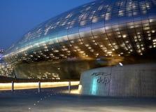 DDP - Dongdaemun designPlaza i Seoul, Sydkorea Royaltyfria Bilder