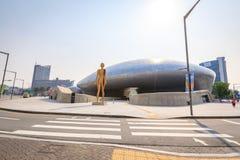 DDP, Dongdaemun-Ontwerpplein op Jun 18, 2017 in Seoel, Zuiden Kor Royalty-vrije Stock Foto