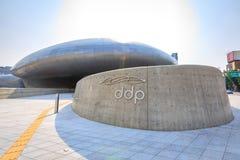 DDP, Dongdaemun-Ontwerpplein op Jun 18, 2017 in Seoel, Zuiden Kor Stock Foto's