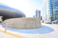 DDP, Dongdaemun-Ontwerpplein op Jun 18, 2017 in Seoel, Zuiden Kor Stock Fotografie