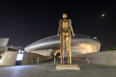 DDP, plaza do projeto de Dongdaemun na noite o 18 de junho de 2017 em Seoul, Fotos de Stock