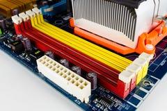 DDR2记忆槽孔 免版税图库摄影