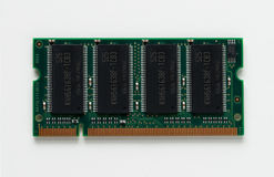 DDR 1 GB Memory Circuit. DDR 1 GB memory for laptop computer Stock Photo