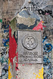 DDR border marker, East Berlin, Germany Royalty Free Stock Image