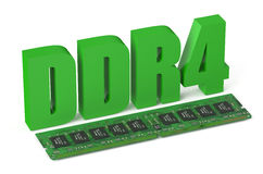 DDR4 memory module card Stock Photo