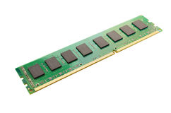Memory module isolated on white Royalty Free Stock Photos