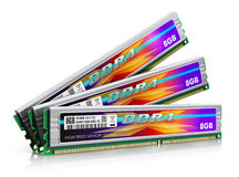 DDR4 memory modules Stock Photos