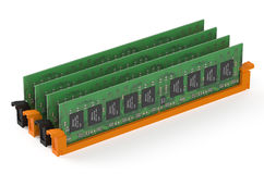 DDR4 memory modules Royalty Free Stock Photos