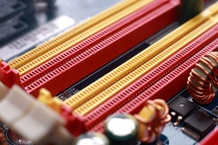 DDR memory slots Royalty Free Stock Photo
