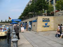 DDR Museum in Berlin, Germany - view at sunny vacation day royalty free stock photo