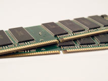 DDR Ram. A pair of DDR Ram modules Royalty Free Stock Photography