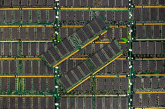DDR RAM, Computer memory chips modules. Background royalty free stock image