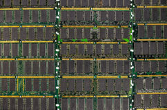 DDR RAM, Computer memory chips modules Royalty Free Stock Photos