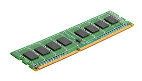 DDR RAM memory module. Isolated on white background Stock Photos