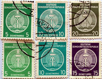 DDR Stamps Stock Photo