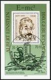 Ddr - 1979: toont Albert Einstein 1879-1955, fysicus, de 100ste Verjaardag Stock Afbeelding