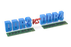 DDR3 versus DDR4 concept Stock Photo