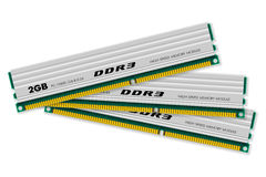 DDR3 memory modules Stock Photo