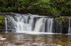 Ddwl Isaf waterfall on the Nedd Fechan River Stock Image