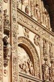 de圣埃斯特万女修道院大教堂,萨拉曼卡,西班牙门面  库存图片