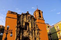 de地亚哥guanajuato墨西哥圣寺庙 免版税库存图片