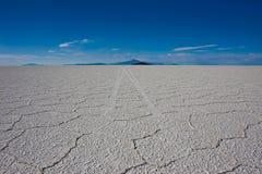 de平面的撒拉尔盐uyuni 库存照片